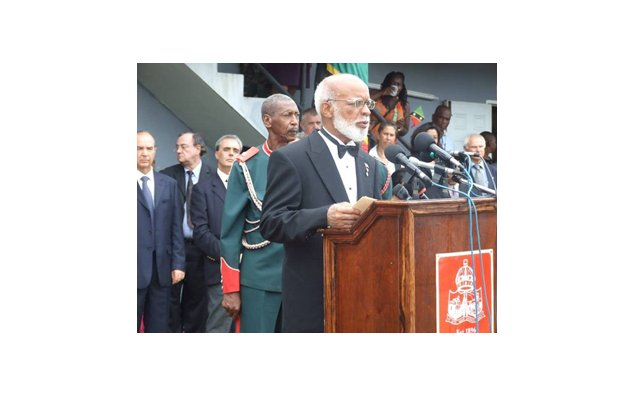 The Governor General Sir Edmund Wickham­ Lawrence and our Deputy Head of Mission M. Gerard BILLET in the back ground