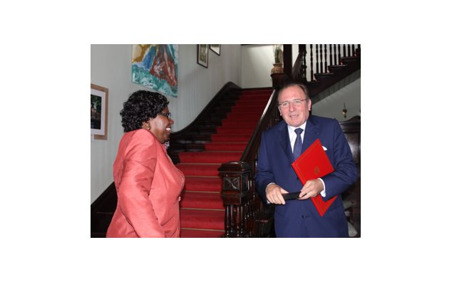 Welcome gift delivered by the Governor General to the Ambassador.